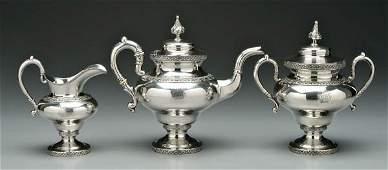 194 American coin silver tea service