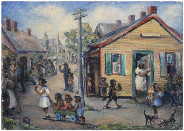 323: Southern folk art painting,