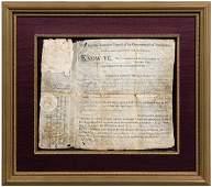 551: Benjamin Franklin signed document,