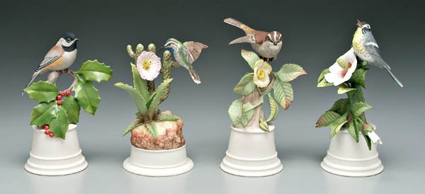738: Four Boehm bird figurines: