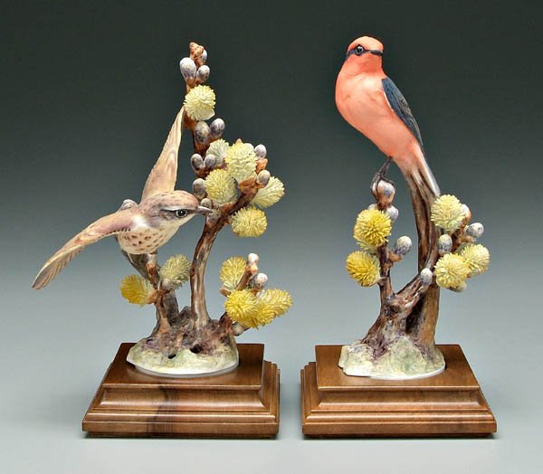 739: Two Doughty bird figurines: