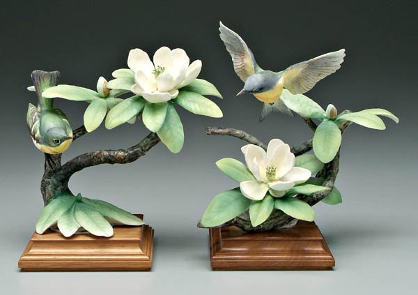 741: Two Doughty bird figurines: