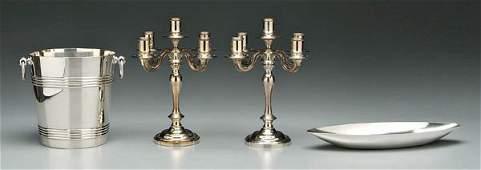 1070: Four pieces Christofle silver plate: