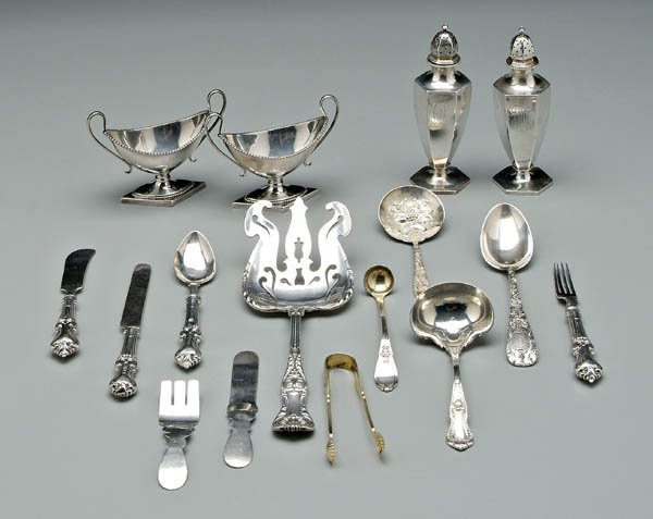 1182: 16 sterling silver items:
