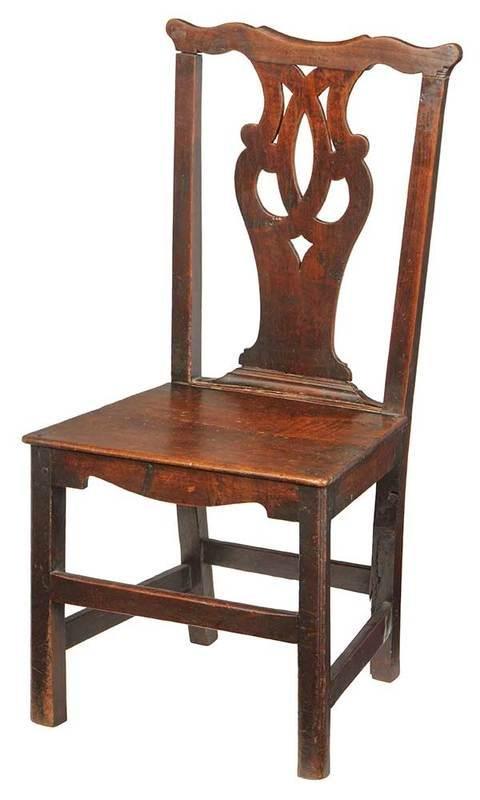 George II Walnut Side Chair