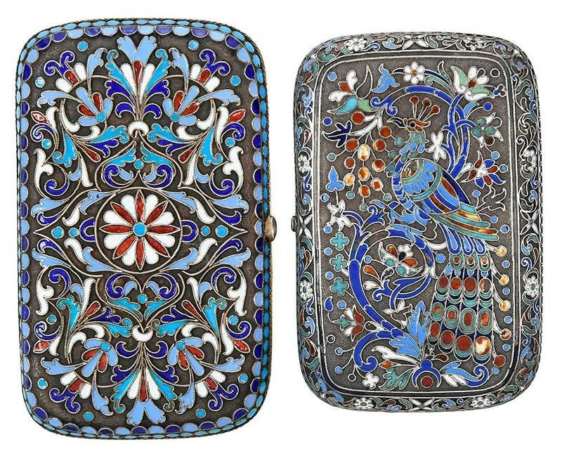 Two Russian Silver/Enameled Boxes