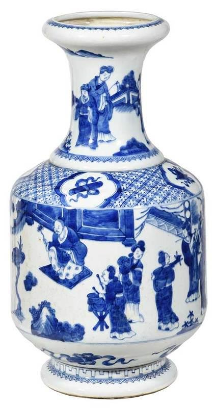 Chinese Blue and White Baluster Vase