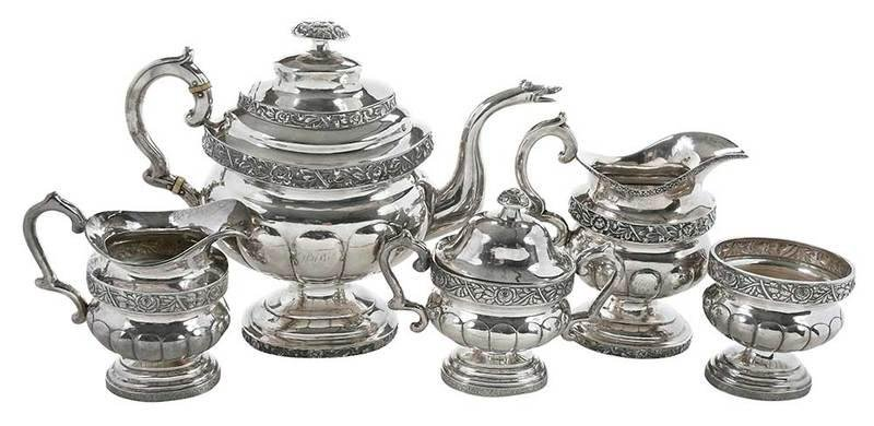 Five Piece Sterling/Coin Silver Tea Set
