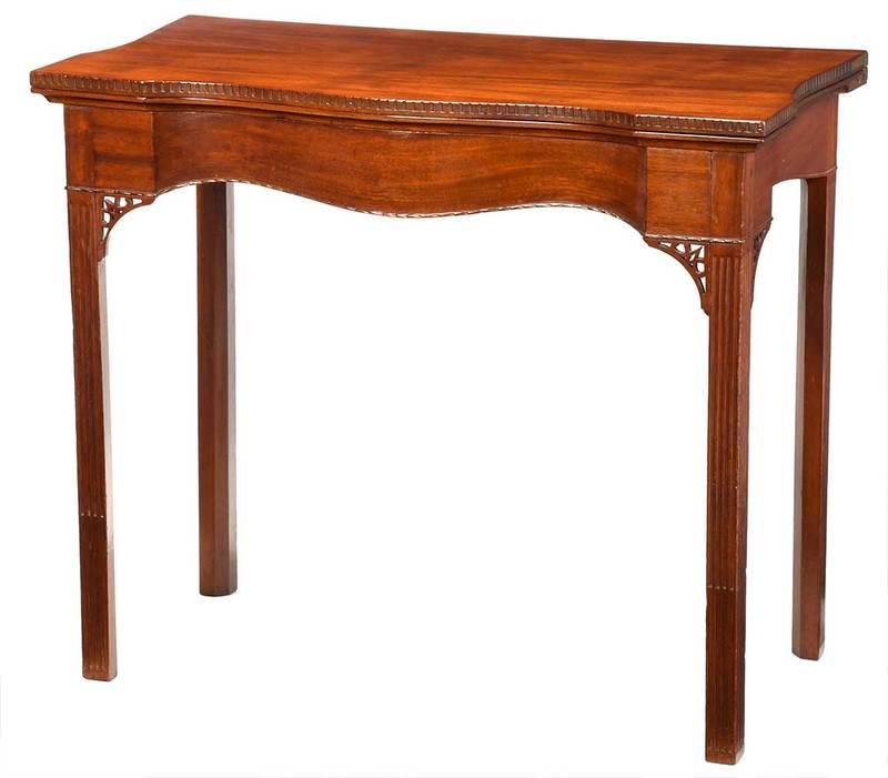 Fine Rhode Island Chippendale Card Table