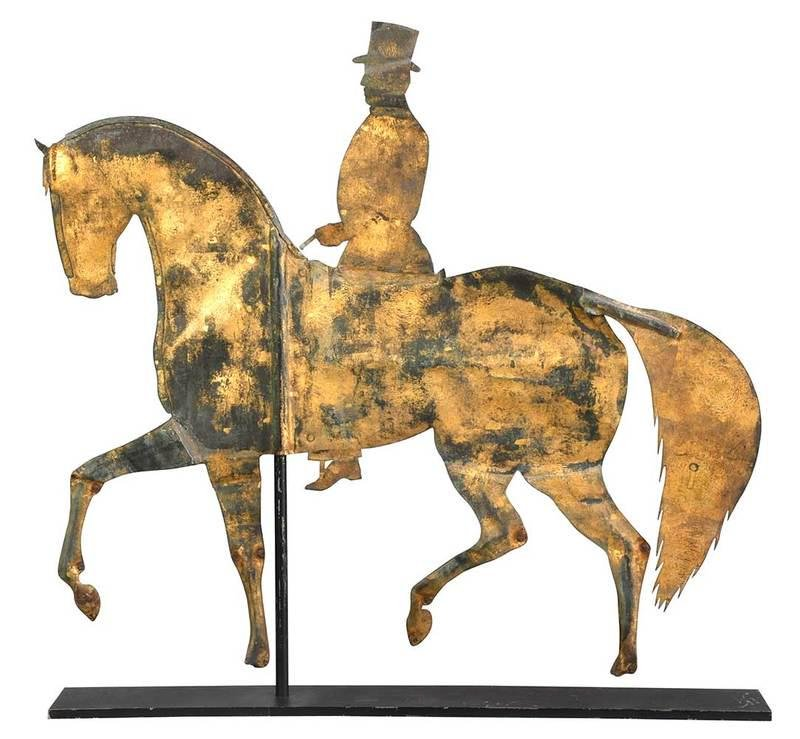 Folk Art Horse and Rider Weather Vane