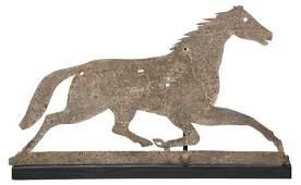 American Folk Art Sheet Metal Horse Weathervane