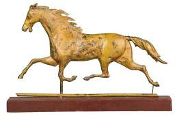 Molded Copper Horse Weathervane with Stand