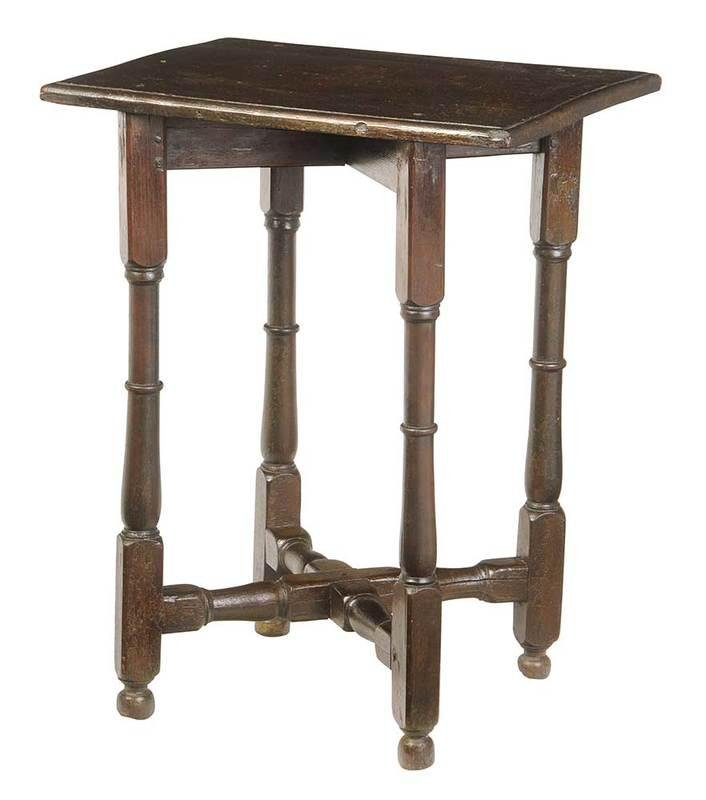 Rare Early Southern William and Mary Table