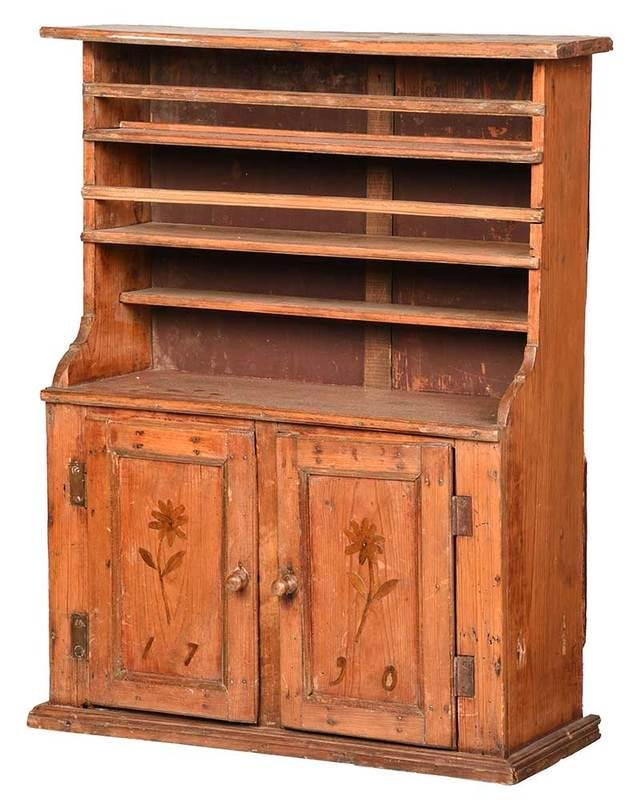 Southern Child's Step Back Cupboard, Dated 1790