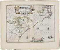 Willem Janszoon Blaeu Virginia  Florida Map