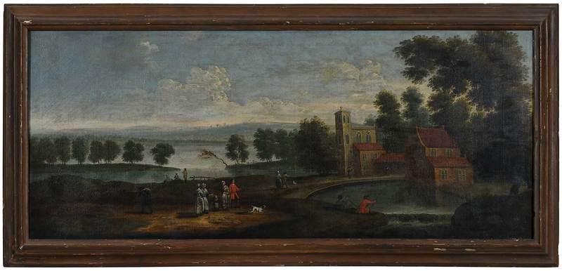 British School Over Mantel Painting