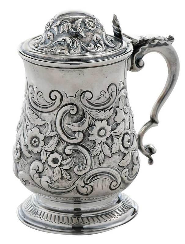 George III English Silver Tankard