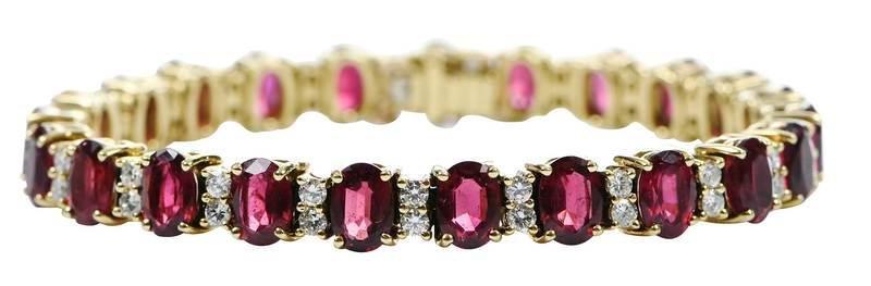 18kt. Rubelite and Diamond Bracelet