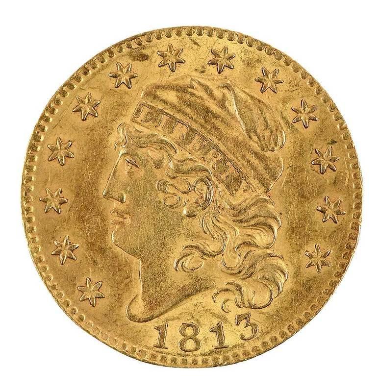 1813 U.S. Five Dollar Gold Coin