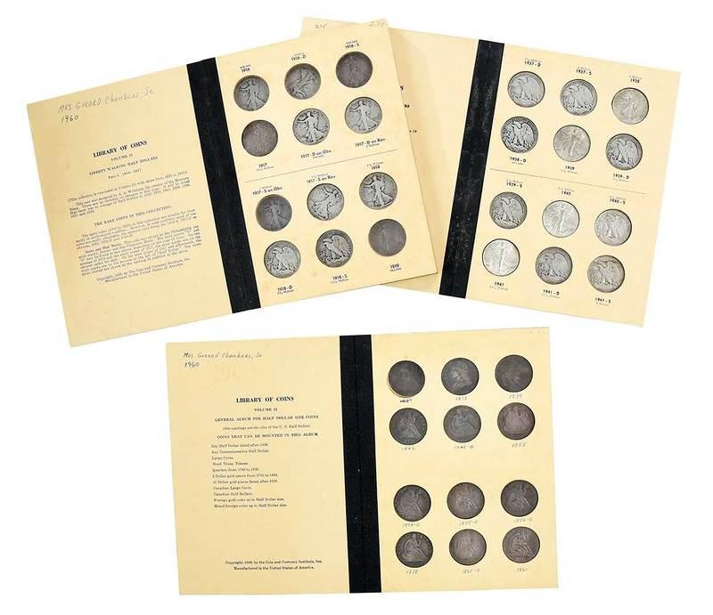 Three Half Dollar Library of Coins Albums