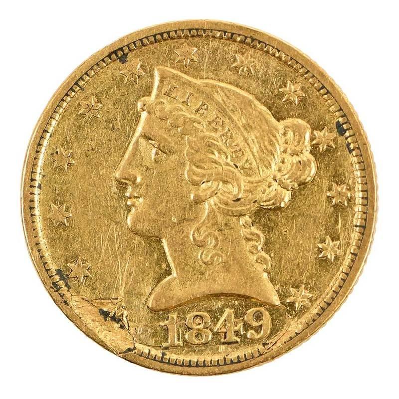 Dahlonega Five Dollar Gold Coin