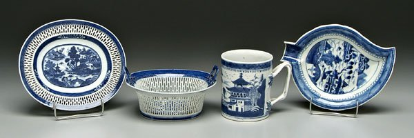 2: Four pieces Chinese export porcelain: