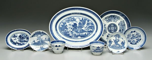6: 14 pieces Chinese blue and white