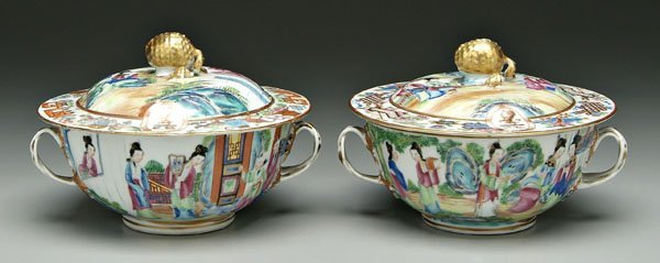 15: Two Chinese [famille rose] bowls,