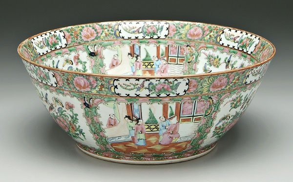 16: Chinese [famille rose] punch bowl,