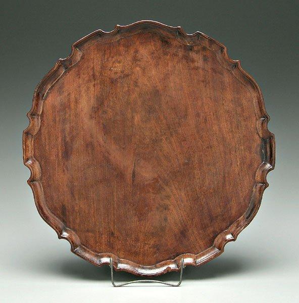 648: Chippendale mahogany tray,