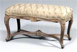 886 Louis XV style carved bench