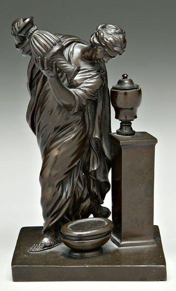 912: Classical bronze figure,