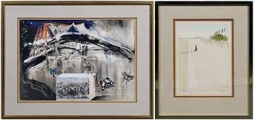 985 Two Salvador Dali lithographs