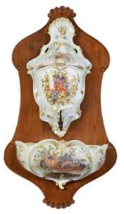 Continental Floral Decorated Lavabo