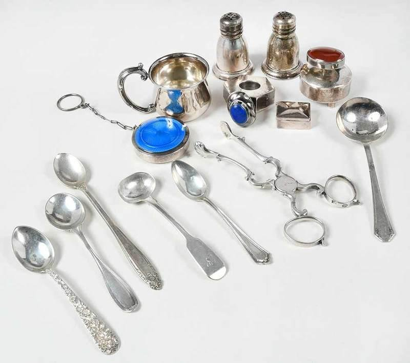 Group of Sterling Small Items