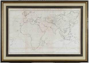 Eastern Hemisphere Asia Map Nichols 1796