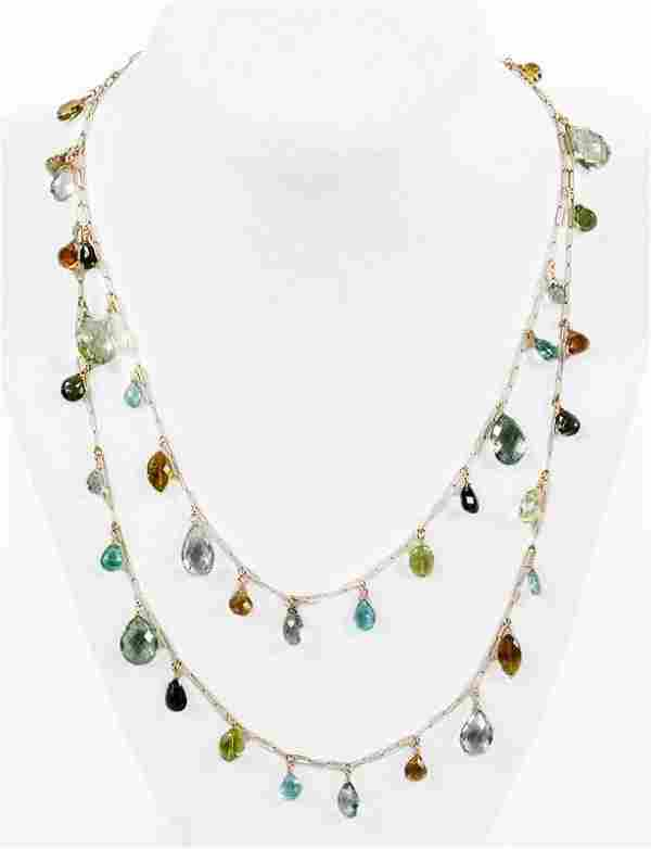 Suzanne Kalan 14kt. Gemstone Necklace