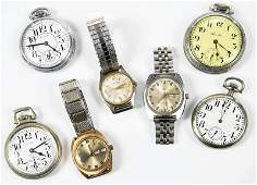 Group of Seven NonGold Time Pieces
