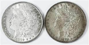 Two 1879O Morgan Dollars