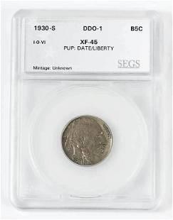 1930S Buffalo Nickel Double Die Obverse