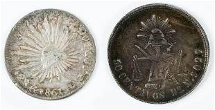 Pair of Republic of Mexico Silver Coins