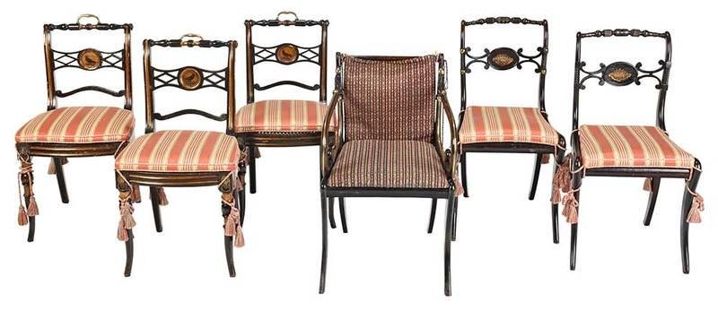 Assembled Set of Six Regency Dining Chairs