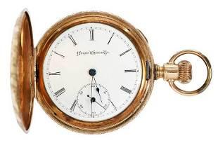 14kt Atlas Pocket Watch
