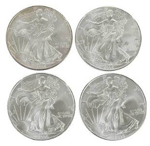 Roll of 1996 American Silver Eagle Coins