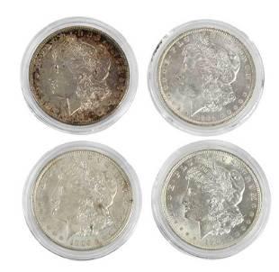 Ten Silver Morgan Dollars