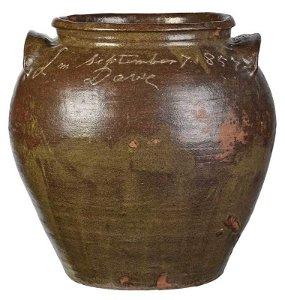 "Monumental ""Dave"" Edgefield Stoneware Jar"