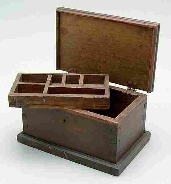 Miniature poplar blanket chest,