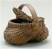 18: Hinged and lidded Cherokee basket,