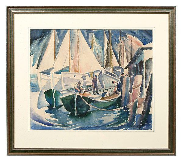 333: Carson Sutherlin Davenport painting,
