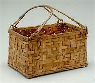 372: Oak split basket,
